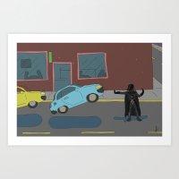Darth Vader traffic Art Print