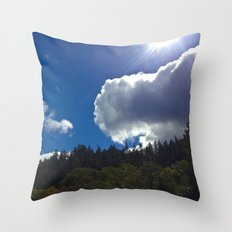 Sunny Clouds Throw Pillow