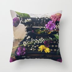 Corona Flowers  Throw Pillow