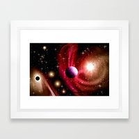 Stardust and solar wind. Framed Art Print