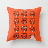 Eyes Of The Tiger Throw Pillow
