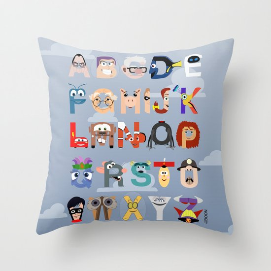 P is for Pixar (Pixar Alphabet) Throw Pillow