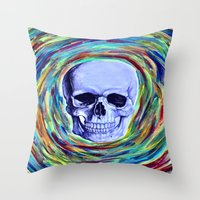 A Skull's Vortex Throw Pillow