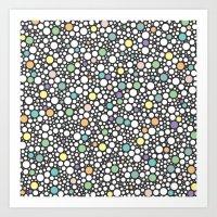 Pastel Puzzle Bubble 3 Art Print
