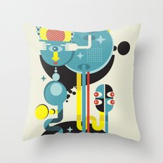 Blue Monster. Throw Pillow