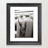 Older Couple Holding Han… Framed Art Print