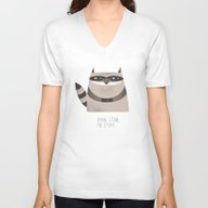 Sneaky Raccoon Unisex V-Neck