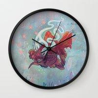 Ocean Jewel Wall Clock