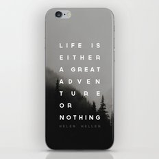 Adventure or Nothing iPhone & iPod Skin
