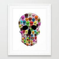 colorfull skull Framed Art Print