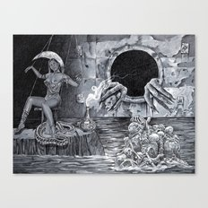 Horror girl Canvas Print