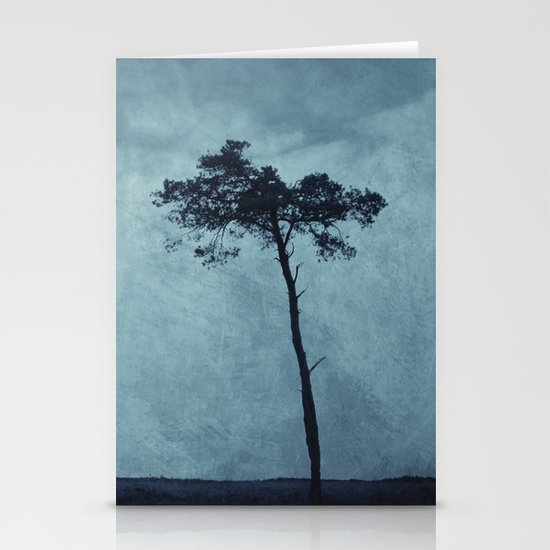 Blue Trees  Stationery Card