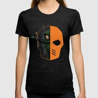 Masked Womens Fitted Tee Tri-Black SMALL