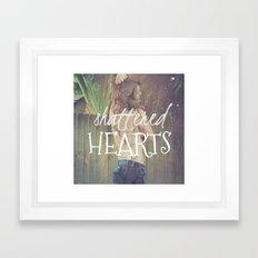 Shattered Hearts Club Framed Art Print