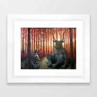 The Armadillo and the Bull Framed Art Print