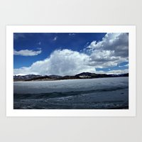 Mountain Clouds Over Icy… Art Print