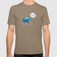 Find Your Porpoise Mens Fitted Tee Tri-Coffee SMALL