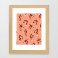 Miss Giraffe Framed Art Print