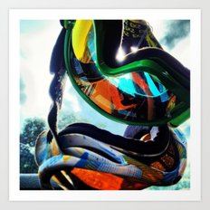 Rainbow Moto Art Print