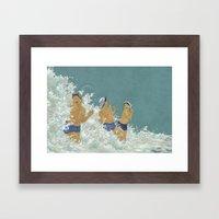 Three Ama Enveloped In A… Framed Art Print
