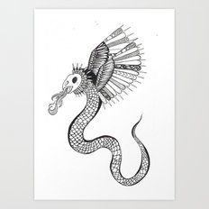 A Monster. Art Print