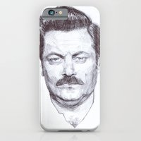iPhone & iPod Case featuring Ron Fucking Swanson by character undefined