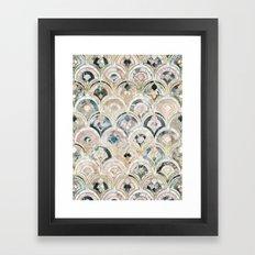 Art Deco Marble Tiles in Soft Pastels  Framed Art Print