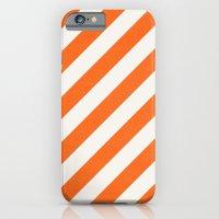 diagonal - orange iPhone 6 Slim Case