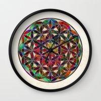 Flower Of Life Variation Wall Clock