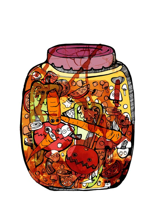Preserved vegetables Art Print