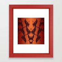 Butterfly Masks Tribal Framed Art Print
