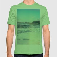 California Sunshine Waves Mens Fitted Tee Grass SMALL