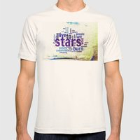 ON THE ROAD II Mens Fitted Tee Natural SMALL