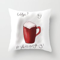 ONE MORE? Throw Pillow