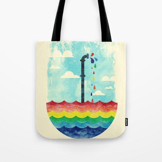 Pond Of Color Tote Bag
