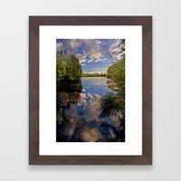 Fenland Reflections Framed Art Print