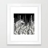 Camouflage II in Uzu Jungle Framed Art Print