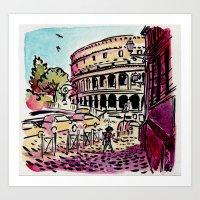 Ciao Mamma! - Colosseo, Roma Art Print