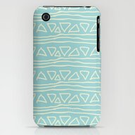 Blue Scribbles 05 iPhone (3g, 3gs) Slim Case