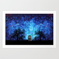 Lonely Tardis Doctor Who… Art Print