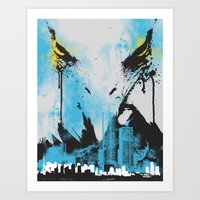 Eagle Eye Watching - Blu… Art Print