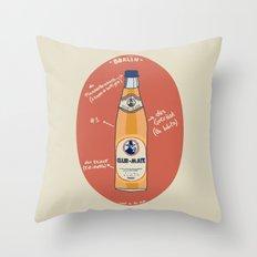 Club-Mate Throw Pillow