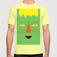 Candy Canes Mens Fitted Tee Lemon SMALL