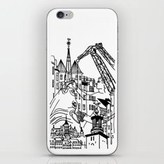 Three City Silhouettes iPhone & iPod Skin