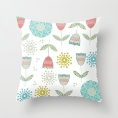 Floral pattern 3cv Throw Pillow