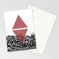 red walls Stationery Cards
