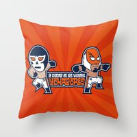Los Luchadores Throw Pillow