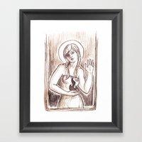 Fire Saint Framed Art Print