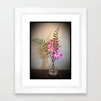 The Bright Flowers Framed Art Print