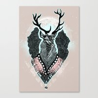 Wind:::Deer Canvas Print